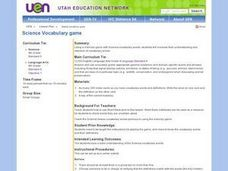 Science: Vocabulary Memory Game Lesson Plan