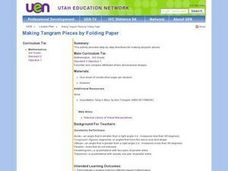 Making Tangram Pieces by Folding Paper Lesson Plan