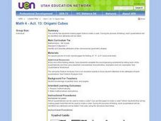 Origami Cubes Lesson Plan