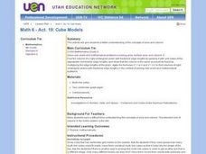 Cube Models Lesson Plan