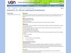 The U.S. and Iroquois Constitutions Lesson Plan