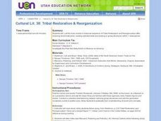Social Studies: Tribal Restoration Laws Lesson Plan