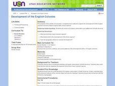 Development of the English Colonies Lesson Plan