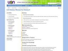 U.S History I Review for History Il Lesson Plan