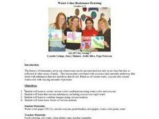 Water Color Resistance Drawing Lesson Plan