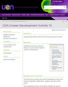 Career Development Lesson Plan