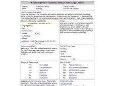 Exploring Plate Tectonics Using Technology Lesson Lesson Plan