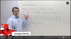Average Velocity Video