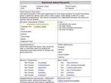 Rainforest Animal Research Lesson Plan