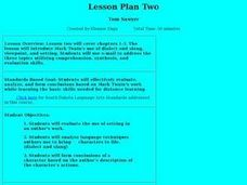 Tom Sawyer Lesson Plan