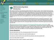 1940 Armistice Day Storm Lesson Plan