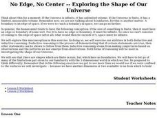 No Edge, No Center -- Exploring the Shape of Our Universe Lesson Plan