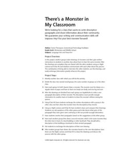There's a Monster in My Classroom Lesson Plan