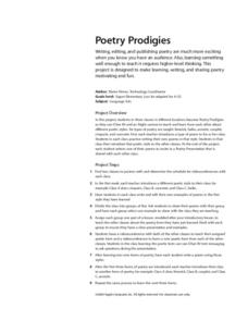 Poetry Prodigies Lesson Plan