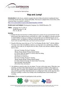 Hop and Jump! Lesson Plan