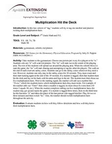 Multiplication Hit The Deck Lesson Plan