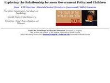 Exploring the Relationship Between Government Policy and Children Lesson Plan