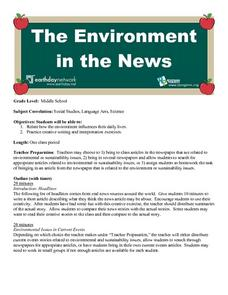 The Environment In The News Lesson Plan