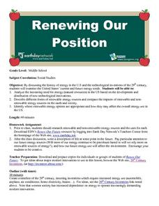 Renewing Our Position Lesson Plan