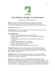 Native Planting for the Built or Green Environment Lesson Plan