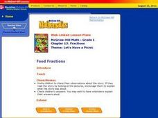 Food Fractions Lesson Plan