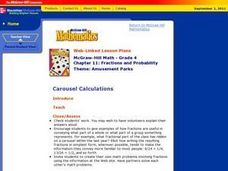 Carousel Calculations Lesson Plan