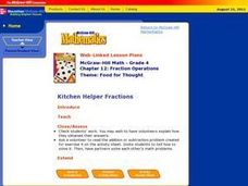 Kitchen Helper Fractions Lesson Plan