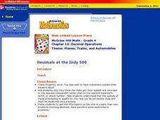 Decimals at the Indy 500 Lesson Plan
