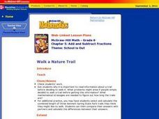 Walk a Nature Trail Lesson Plan