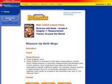 Measure Up Both Ways Lesson Plan