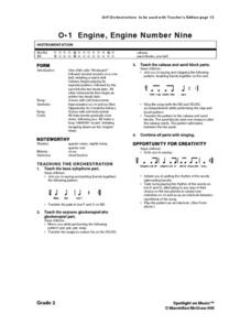 Engine Engine Number Nine: Music Lesson Plan