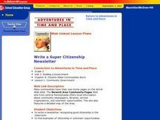 Write a Super Citizenship Newsletter Lesson Plan