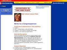 Write to a Congressperson Lesson Plan