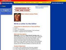 Write a Letter to the Editor Lesson Plan