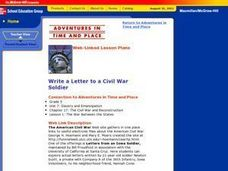 Write a Letter to a Civil War Soldier Lesson Plan