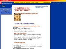 Prepare a Press Release Lesson Plan