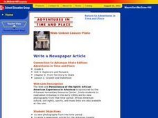 Write a Newspaper Article Lesson Plan