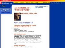 Write an Advertisement Lesson Plan