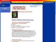 Write a Military Marching Song Lesson Plan