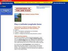 Play A Latitude- Longitude Game Lesson Plan