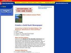 Create a Gold Rush Newspaper Lesson Plan