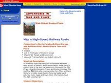 Map a High-Speed Railway Route Lesson Plan