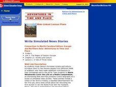 Write Simulated News Stories Lesson Plan