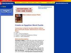 Create an Egyptian Word Puzzle Lesson Plan
