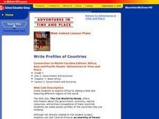 Write Profiles of Countries Lesson Plan