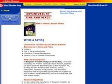 Write a Saying Lesson Plan