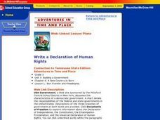 Write a Declaration of Human Rights Lesson Plan