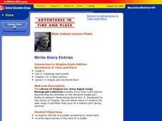 Write Diary Entries Lesson Plan