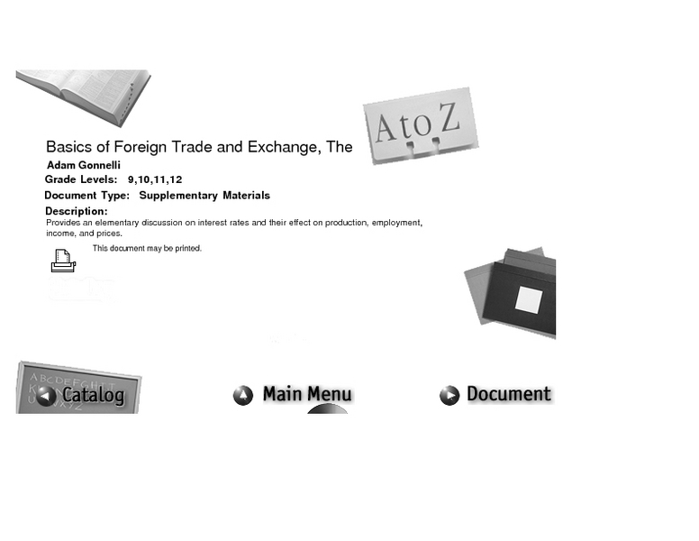 Basics Of Foreign Trade And Exchange Lesson Plan