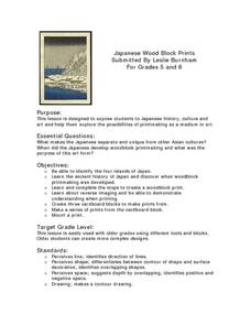 Japanese Wood Block Prints Lesson Plan
